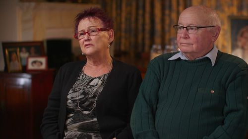 Anthea Bradshaw's mother Ros and father Martin. (60 Minutes)