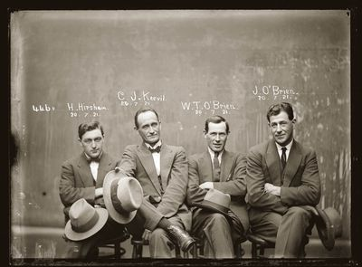 Hampton Hirscham, Cornellius Joseph Keevil, William Thomas O'Brien and James O'Brien, 1921