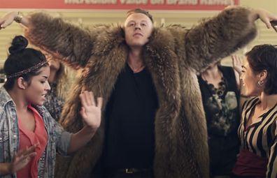 Still from Macklemore's 'Thrift Shop' video