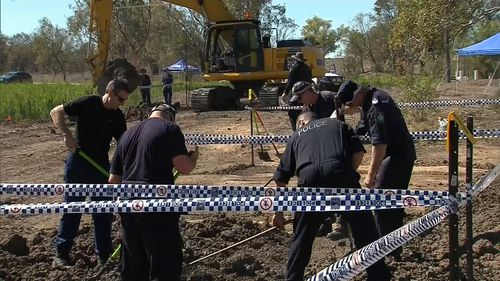 A search for the remains of Roxlyn Bowie commenced outside Walget today.
