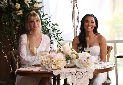 Naya Rivera and Heather Morris starred alongside each other on Glee