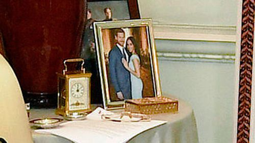 An official photograph showed a never-before-seen picture of Meghan and Harry. (PA/AAP)