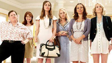 Bridesmaids, cast, movie, scene, bridal store
