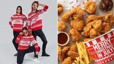 KFC launches Christmas in July 'ugly sweaters'