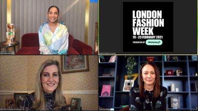 Sophie, Countess of Wessex presented the 2021 Queen Elizabeth II Award for British Design to Priya Ahluwalia during the chat