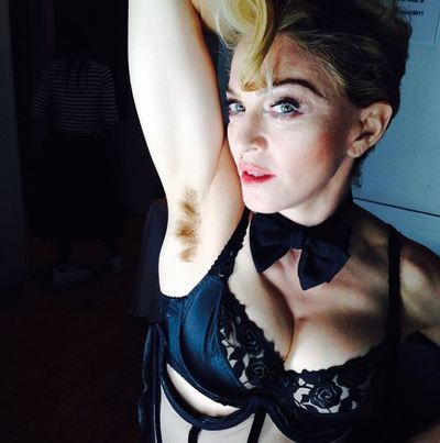 Madonns taking to Instagram to show off her natural look in March, 2014