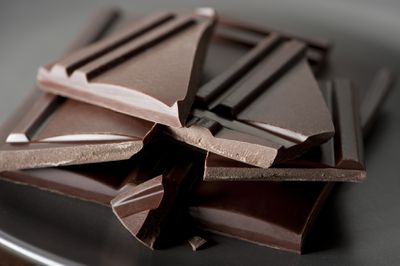 <strong>A few squares of dark chocolate</strong>