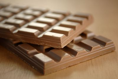 You absorb less calories from a block if chocolate if you eat it all at once than if you finish it off over a week