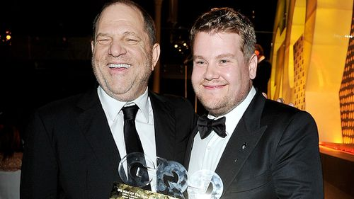 Corden and Weinstein are known to be good friends. (Getty)