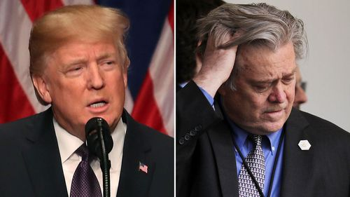 Donald Trump and his former chief strategist Steve Bannon. (Getty)