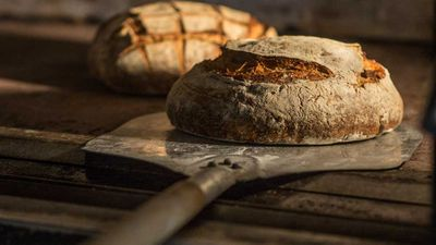 <strong>The Grounds Bakery sourdough, fresh from the oven</strong>
