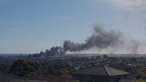 The fire is visible kilometres away. (Glennjamen Black via Facebook)