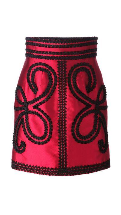 "<a href=""http://www.farfetch.com/au/shopping/item11036256.aspx"" target=""_blank"">Embroidered Skirt, $2,469, Dolce &amp; Gabbana</a>"