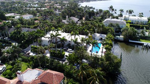 The Florida home of Jeffrey Epstein has a large waterfront footprint in the Town of Palm Beach.
