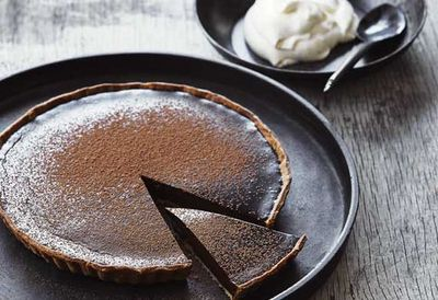 "Recipe: <a href=""https://kitchen.nine.com.au/2016/05/05/11/02/mark-bests-chocolate-tart"" target=""_top"">Mark Best's chocolate tart</a>"