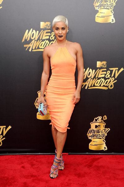 E! News Correspondent Sibley Scoles at the 2017 MTV Movie & TV Awards in Los Angeles
