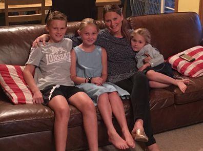 Caroline Erwin with three children