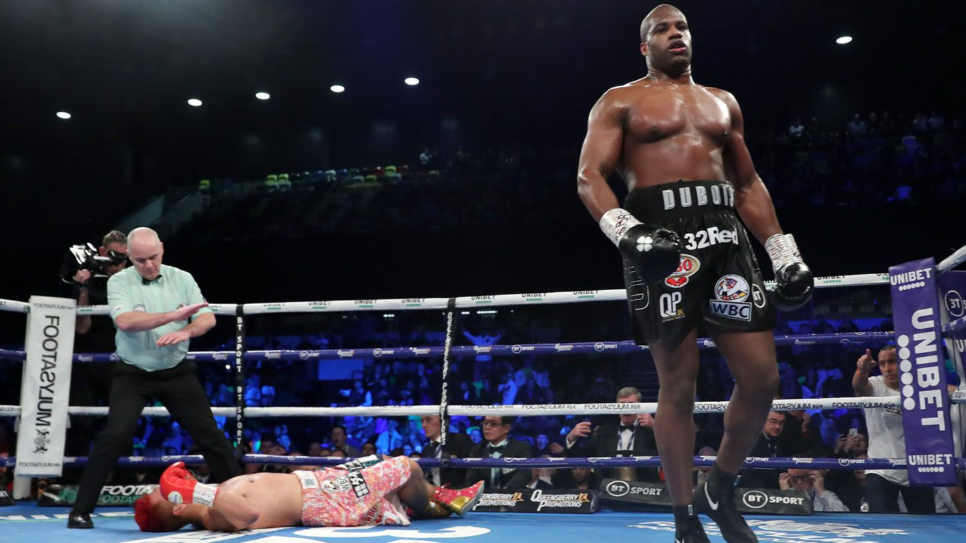 Daniel Dubois delivers another highlight reel knockout to end 2019 with belts