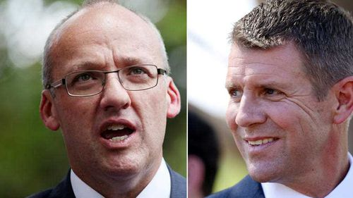 Luke Foley and Mike Baird. (AAP)