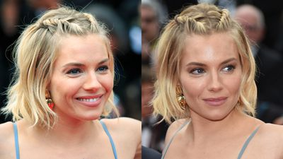 <p>For the closing ceremony of Cannes Film Festival, Sienna Miller opted for a half-braid, half twist situation.</p>