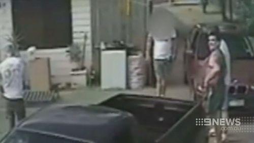 CCTV captured Nicholls at the home of  a man who owed him drug money. (9NEWS)
