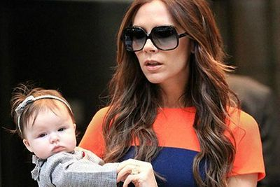 <b>Parents:</b> David and Victoria Beckham<p>The newest edition to the Beckham brood has been named Harper Seven.</p>