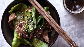 The Whole Hearted Cook's beef and broccolini stir-fry with homemade hoisin