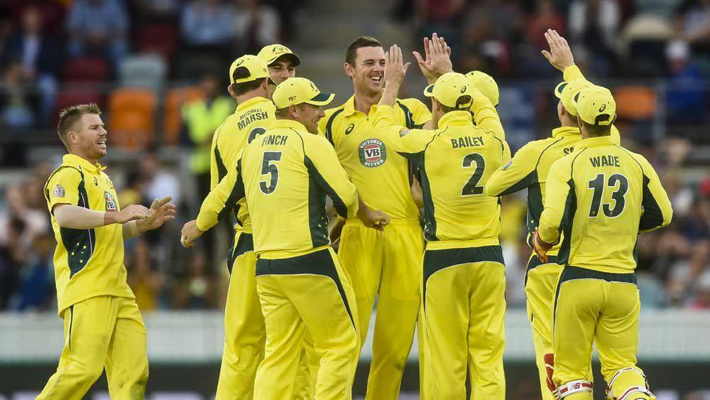 Warner ton leads Aussies to big ODI win