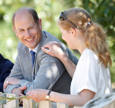 Prince Edward, Earl of Wessex and Lady Louise Windsor visit The Wild Place Project at Bristol Zoo on July 23, 2019 in Bristol, England.