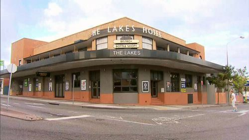 The alleged altercation occurred outside The Lakes Hotel. (9NEWS)