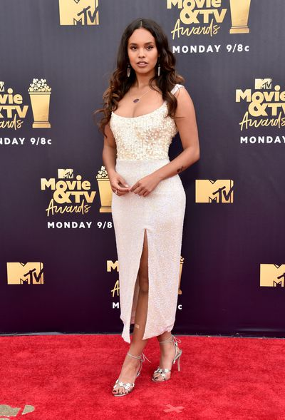 <em>13 Reasons Why</em> actress Alisha Boe in Mark Arian at the 2018 MTV Movie and TV Awards