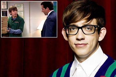 <B>You know him as...</B> Artie, the bespectacled, wheelchair-bound singer from <I>Glee</I>.<br/><br/><B>Before he was famous...</B> In an ep of the American version of <I>The Office</I> that airs in 2007, Kevin appears as a (non-handicapped) pizza boy who argues with Michael Scott (Steve Carell). Before <I>Glee</I> Kevin was also in a boy band called NLT (this is true), who still have a few hardcore fans lingering on the edges of the internet (this is also true).