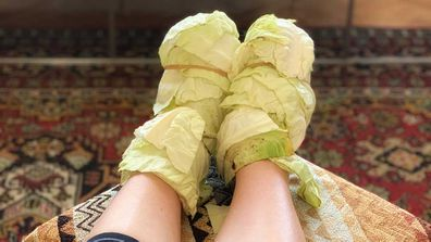 Alice in Frames' cabbage compression socks