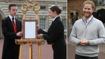 Harry announces royal baby