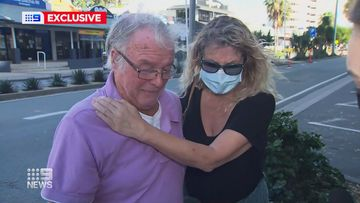 An elderly Queensland man and his stepdaughter have spoken of their heartbreak after being told they can't see their dying wife and mother in a NSW hospital.
