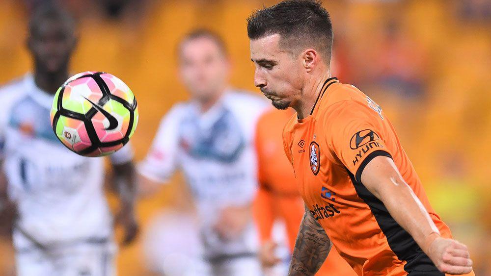 Brisbane's Jamie Maclaren hat-trick steers Roar to big win over Mariners