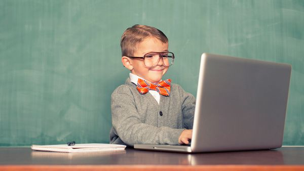 Keyboard warrior: guide your tiny tot to a brighter future with science. Image: Getty