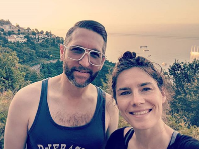 Amanda Knox and Christopher her fiance.