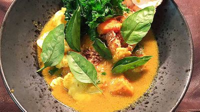 "Recipe: <a href=""http://kitchen.nine.com.au/2016/05/05/11/33/adrian-lis-cray-cray-curry"" target=""_top"">Adrian Li's cray cray curry</a>"