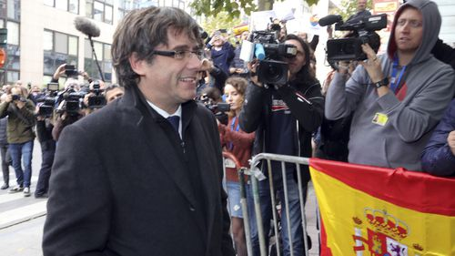 Spain was plunged into its worst political crisis in three decades when Mr Puigdemont's government flouted a court ban. (PA/AAP)