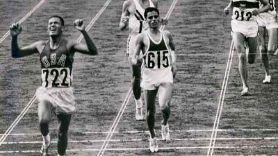 Ron Clarke was a bronze medal in the 10,000-metre event at the 1964 Tokyo Olympics in Tokyo.<p></p><p>Here Clarke (centre) is pictured being passed by Billy Mills (USA), who went on to win the 10,000m in the 1964 Olympics.</p>
