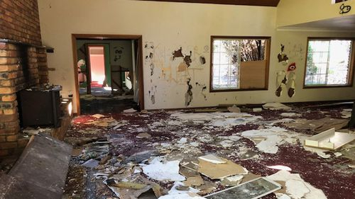 Vandals have destroyed the home's interior.