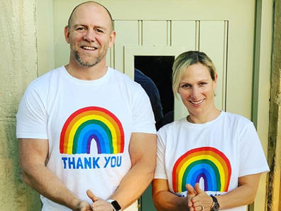 Zara and Mike Tindall join fundraising effort for healthcare workers in the UK.