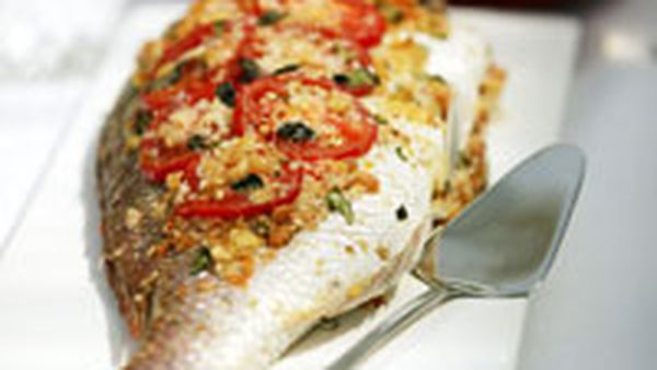 Baked whole fish