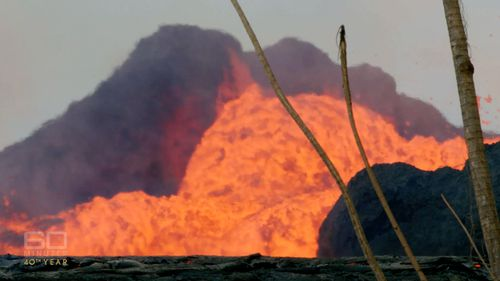 Roads are blocked by mountains of lava, several storeys high.