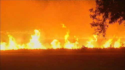 "The bushfire has created a ""lot of smoke"". (9NEWS)"