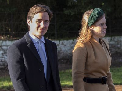 The pair attend Christmas Day church service with the royal family