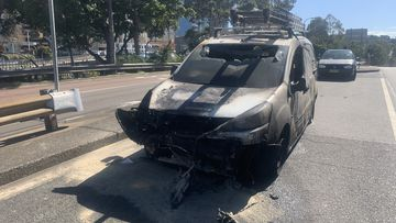 Car burst into flames inside Sydney Harbour Tunnel, the driver was unharmed.