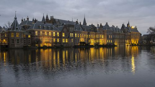 View of Binnenhof, the seat of the Dutch government in The Hague, Netherlands, Friday, Jan. 15, 2021