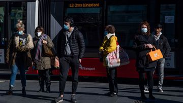 Commuters wear masks at Sydney's Central Station this week.
